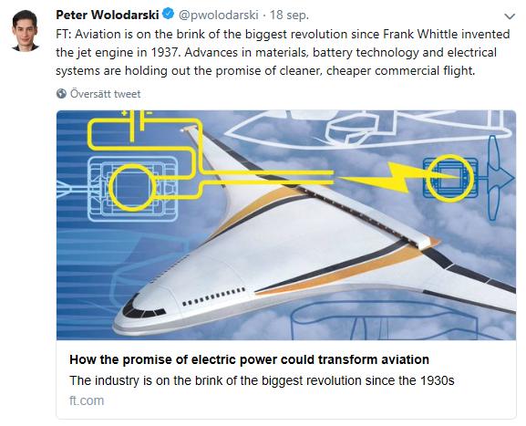 Financial Times: Hur löftet om eldrift kan förändra flygindustrin